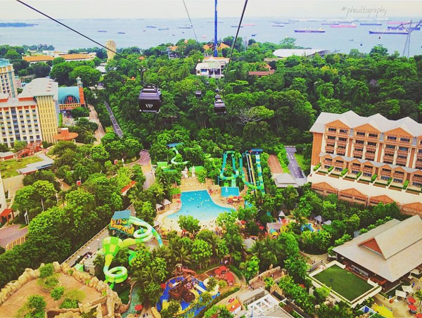 Bird's eye view of the Resort from the Cable Car.