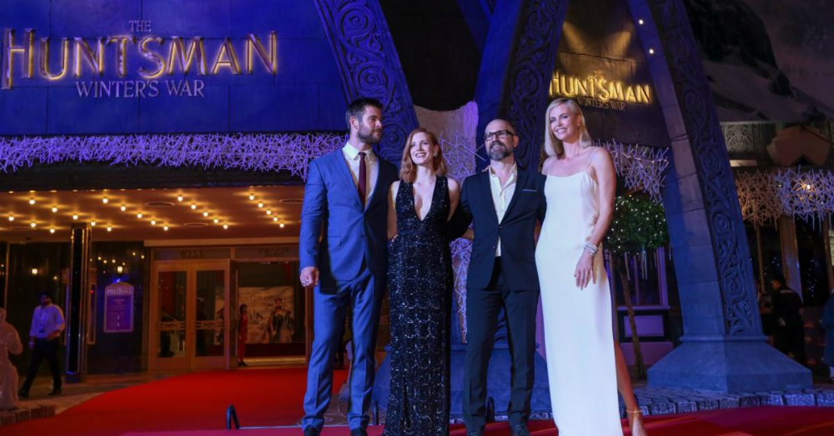 The Huntsman: Winter's War Asia premiere at Universal Studios Singapore.